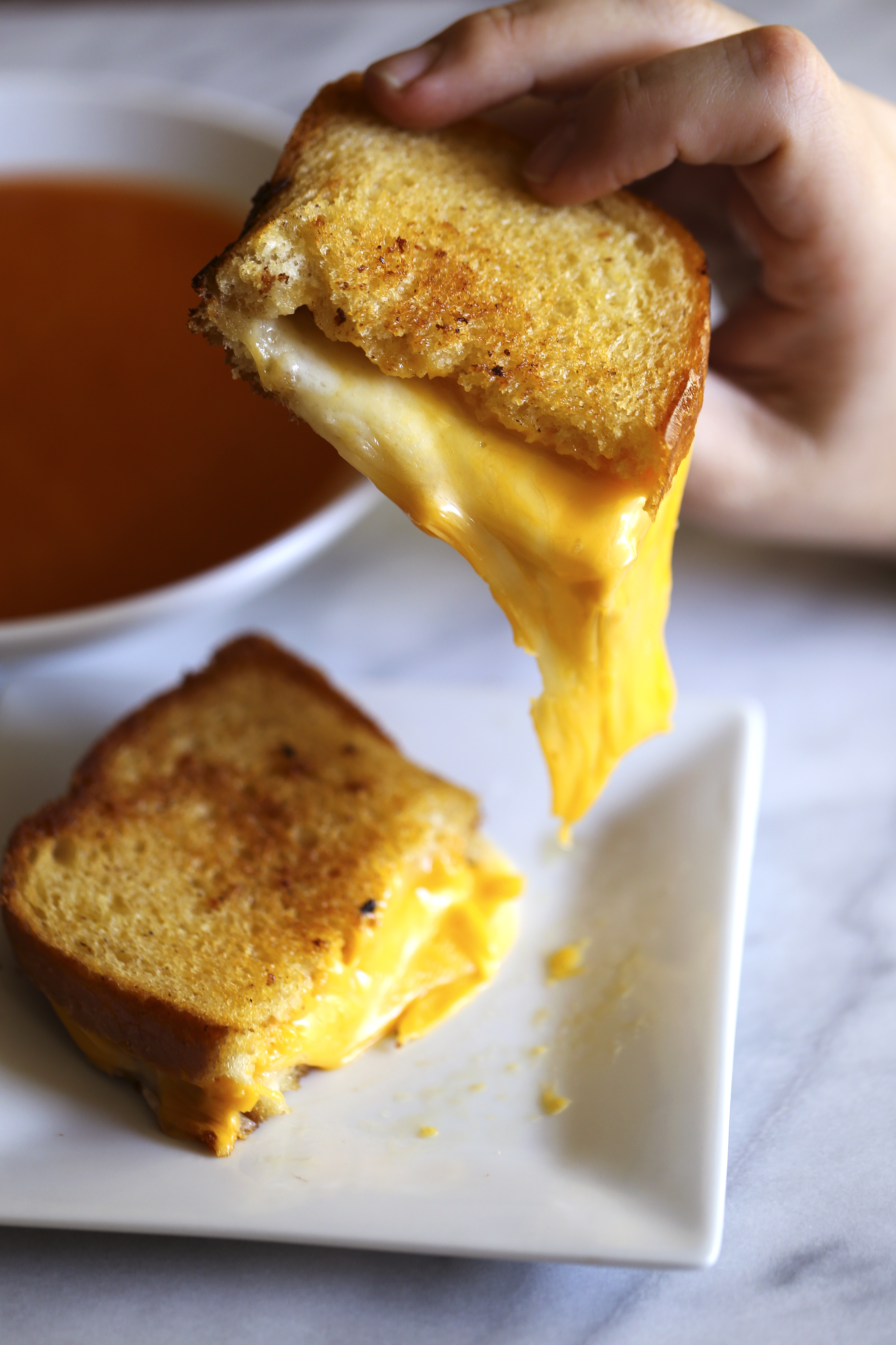 A recreation of Danyele McPherson's grilled cheese sandwich.