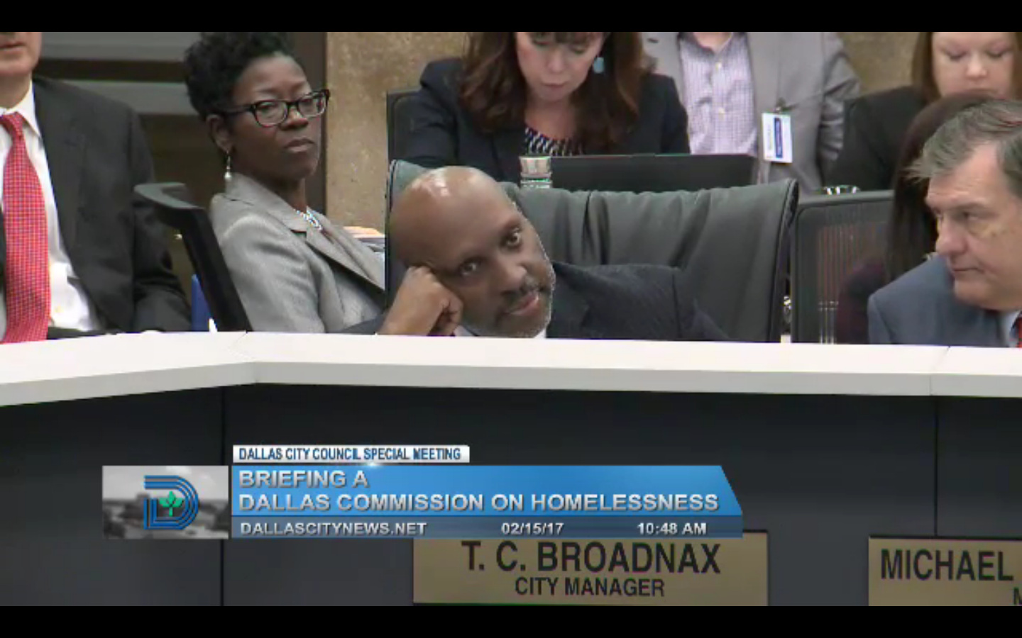 T.C. Broadnax hasn't been here long, but he already looks tired of the B.S.