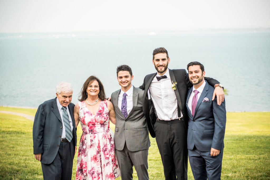 Family Man: Ira and Debbie with their three sons, (from left) Zach, Michael, and Jonathan, at a wedding in 2015.