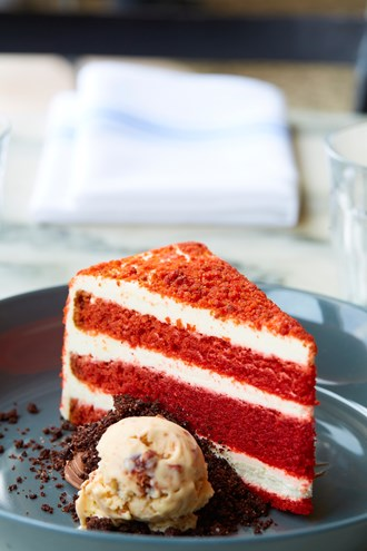 Maggie Huff's red velvet cake at Filament (Photo by Kevin Marple)