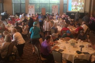 Guests enjoy the 19th Hole celebration at Las Colinas Country Club.