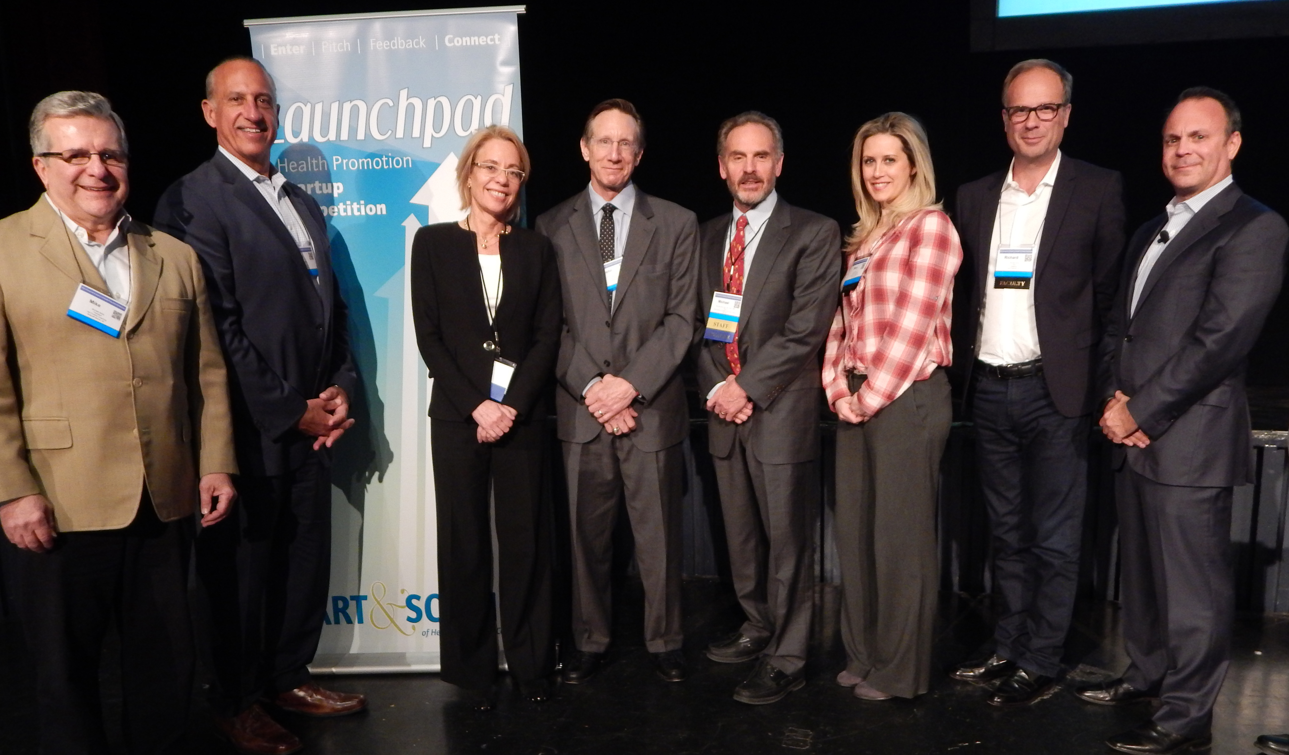 Winners of the from right to left: Hunter Howard, Mike Motta, Mark Correia, Margaret Moore, John Harris, Michael O'Donnell, Mary Gillis, James Hummer (Courtesy of: Hormone Therapeutics)