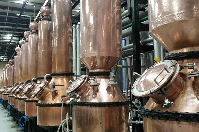 Small copper tanks for distilling Roca Patron