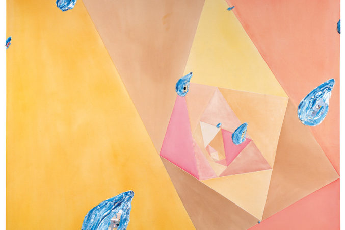 Illusion Vs Reality In Sky Over Owen >> At The Dallas Museum Of Art Laura Owens Plays With Mediums And