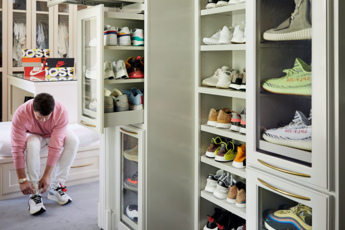 ... Former Pitcher For The Cleveland Indians And New York Yankees And Noted  Sneakerhead. When It Came Time To Design A Closet To House His Shoes ...