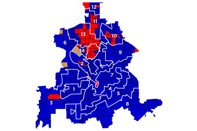 Dallas City Council District Map on