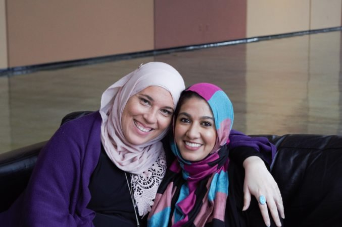 Alia Salem, left, and Huma Yasin are the founders of Facing Abuse in Community Environments, which aims to provide services for Muslims who suffer abuse in their communities. (Photo by Amina Khan)