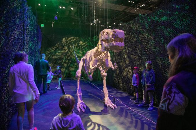 Resultado de imagen para Tiranosaurio Rex de lego en museo de dallas