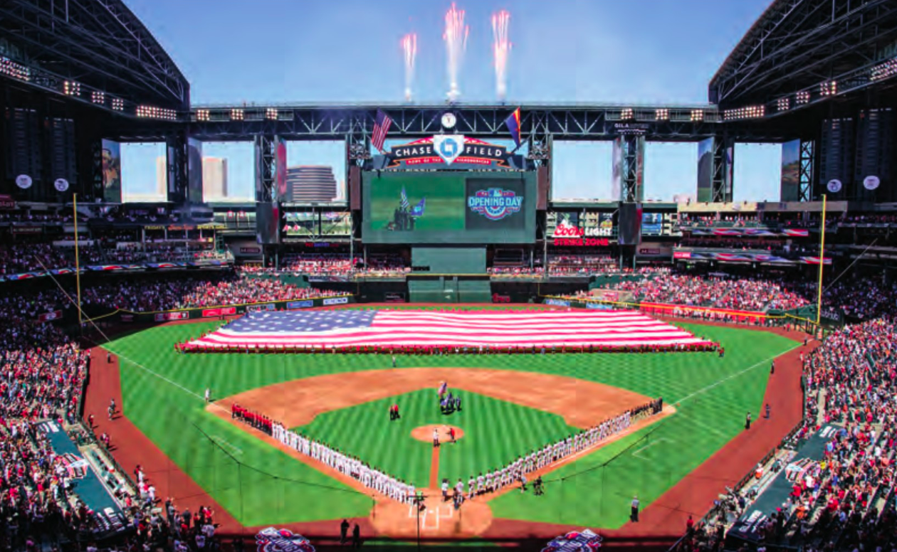 Chase Field (Arizona Diamondbacks) 3. Marlins Park (Miami Marlins) 4.  Safeco Field (Seattle Mariners) 5. Miller Park (Milwaukee Brewers) 6. 2a9ba134adb1