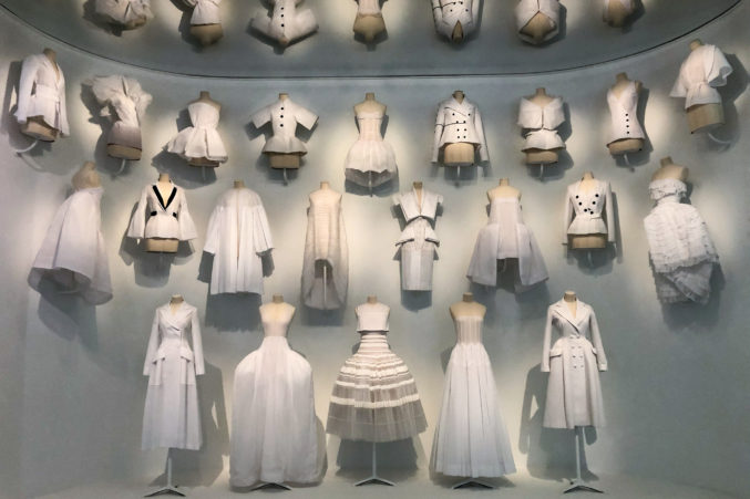 Image result for pictures of the dior exhibit at the dma