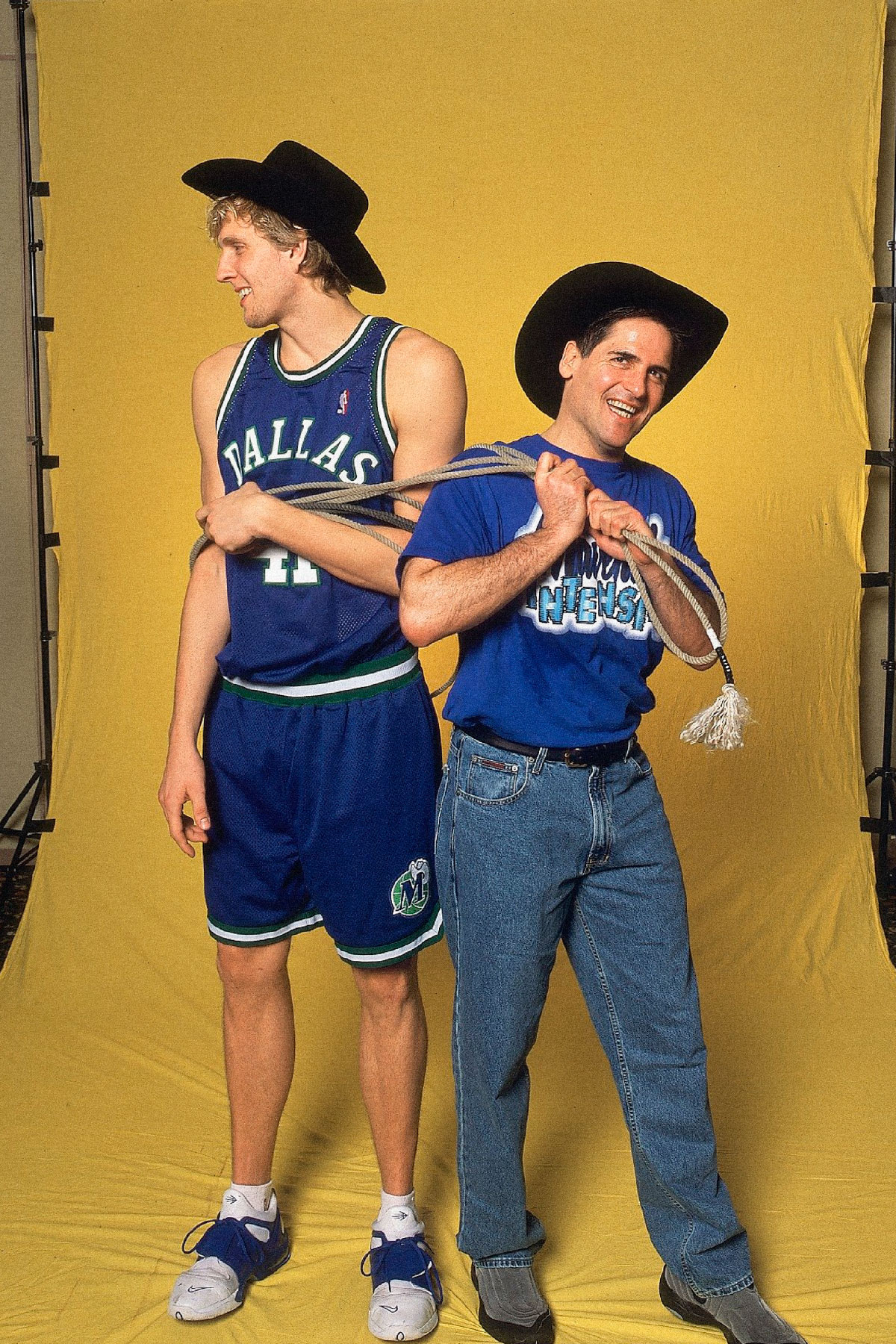 Dirk Nowitzki and Mark Cuban