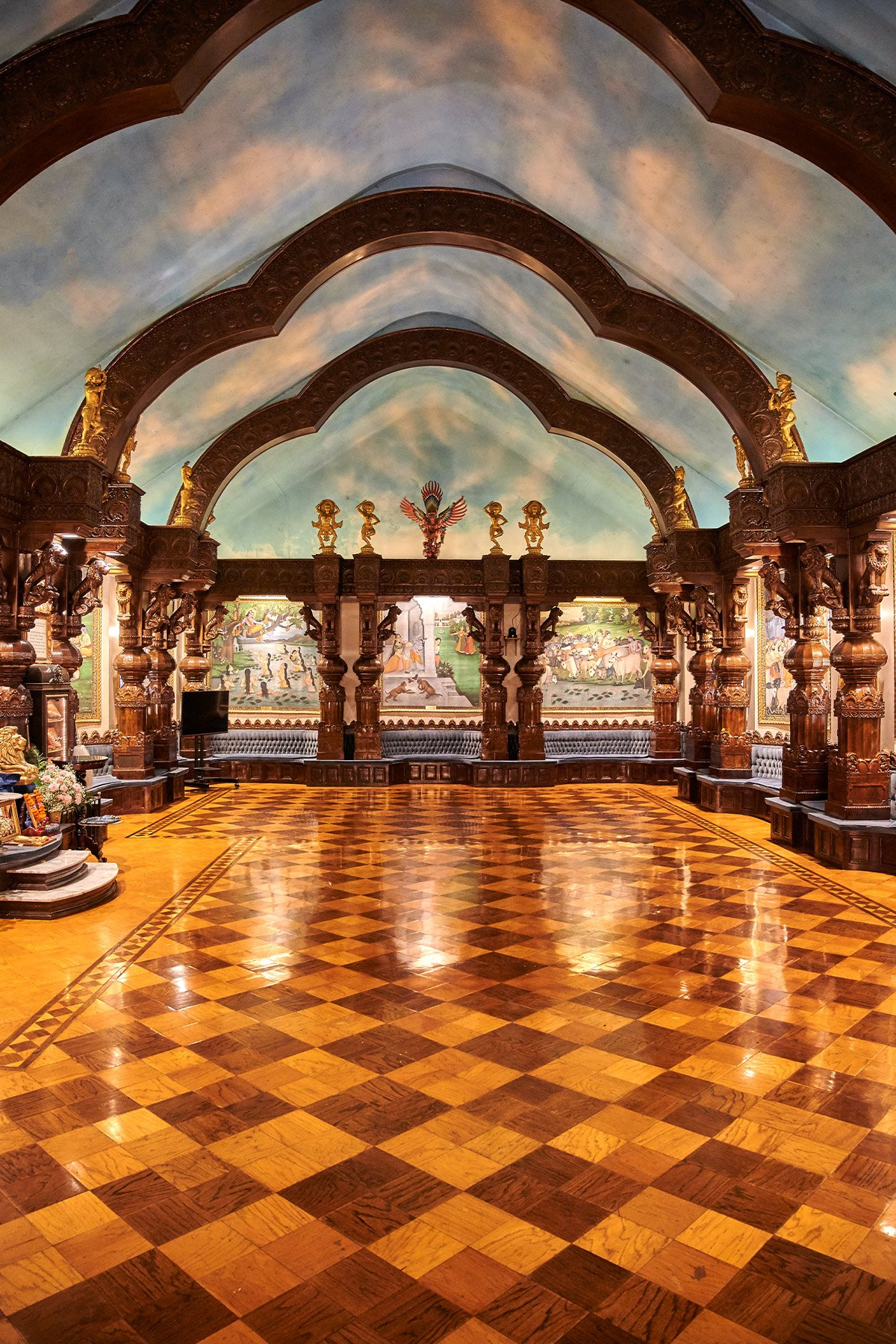 Sanctuary With Paintings Depicting Krishna's Life