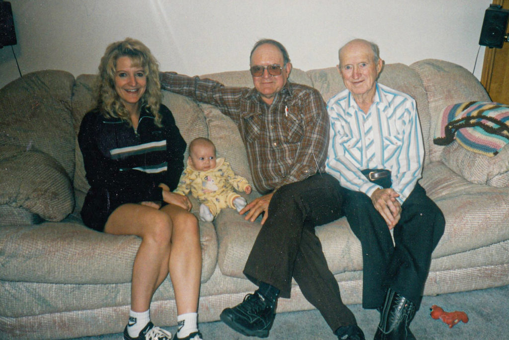 Harold with his daughter, Deb, and granddaughter