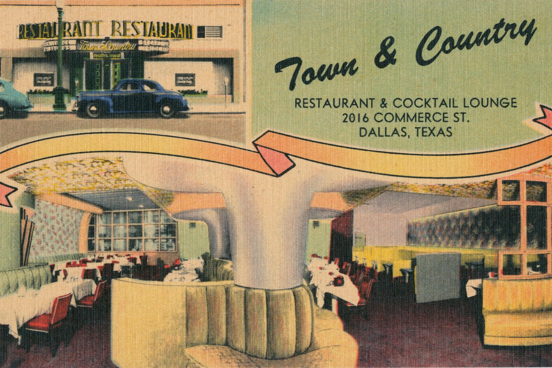 Restaurant Illustration Postcard