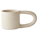 Workaday Handmade Short Mug In White