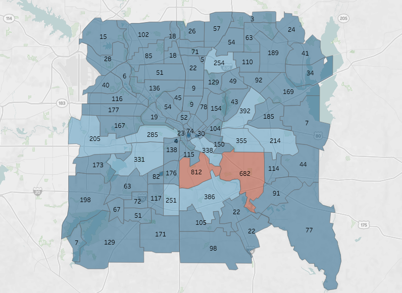 Dallas Zip Code Map Two Dallas ZIP Codes Produce More Inmates Than Any Others in Texas