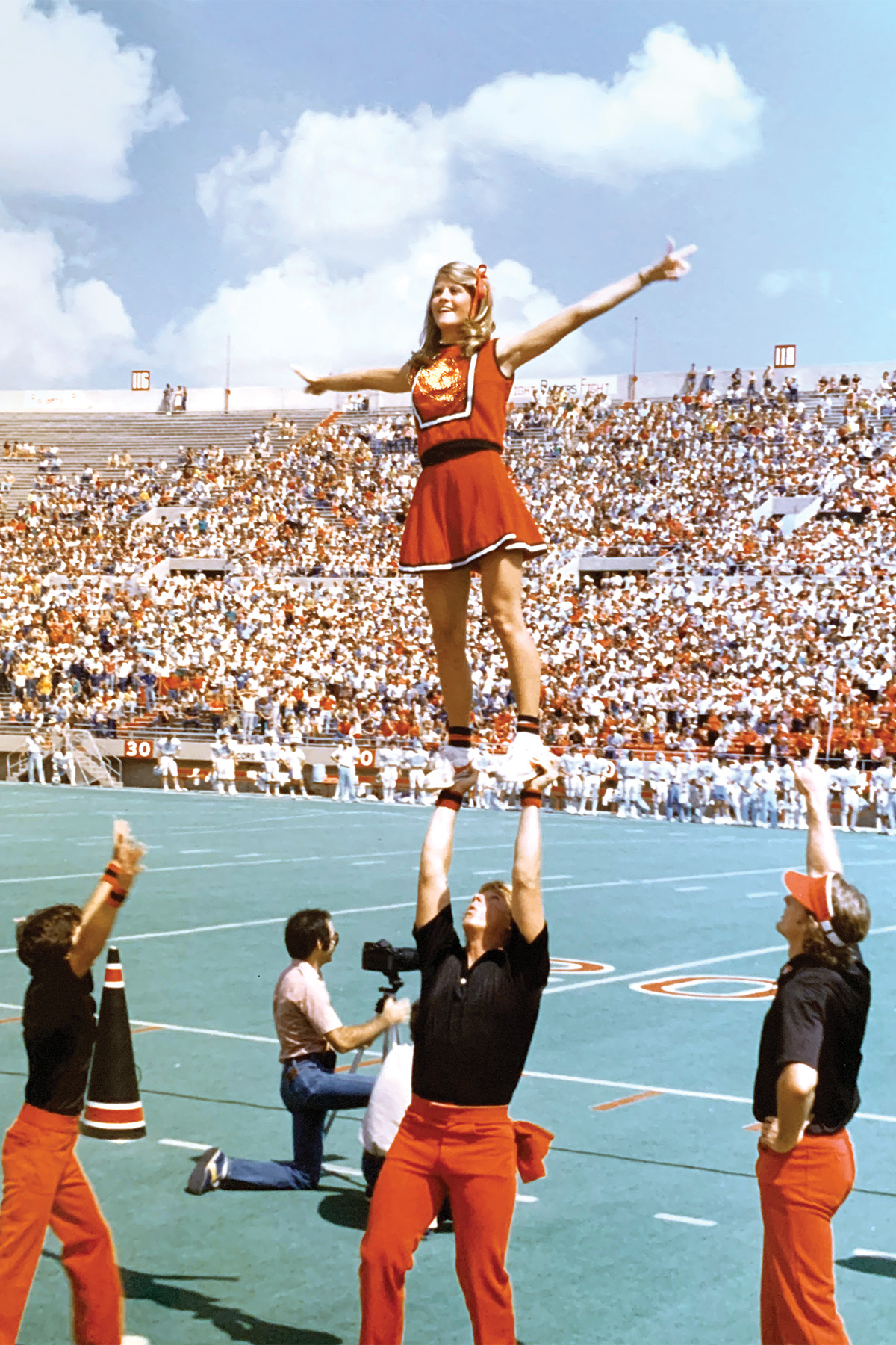 Kim Butler, college cheerleader at Texas Tech University