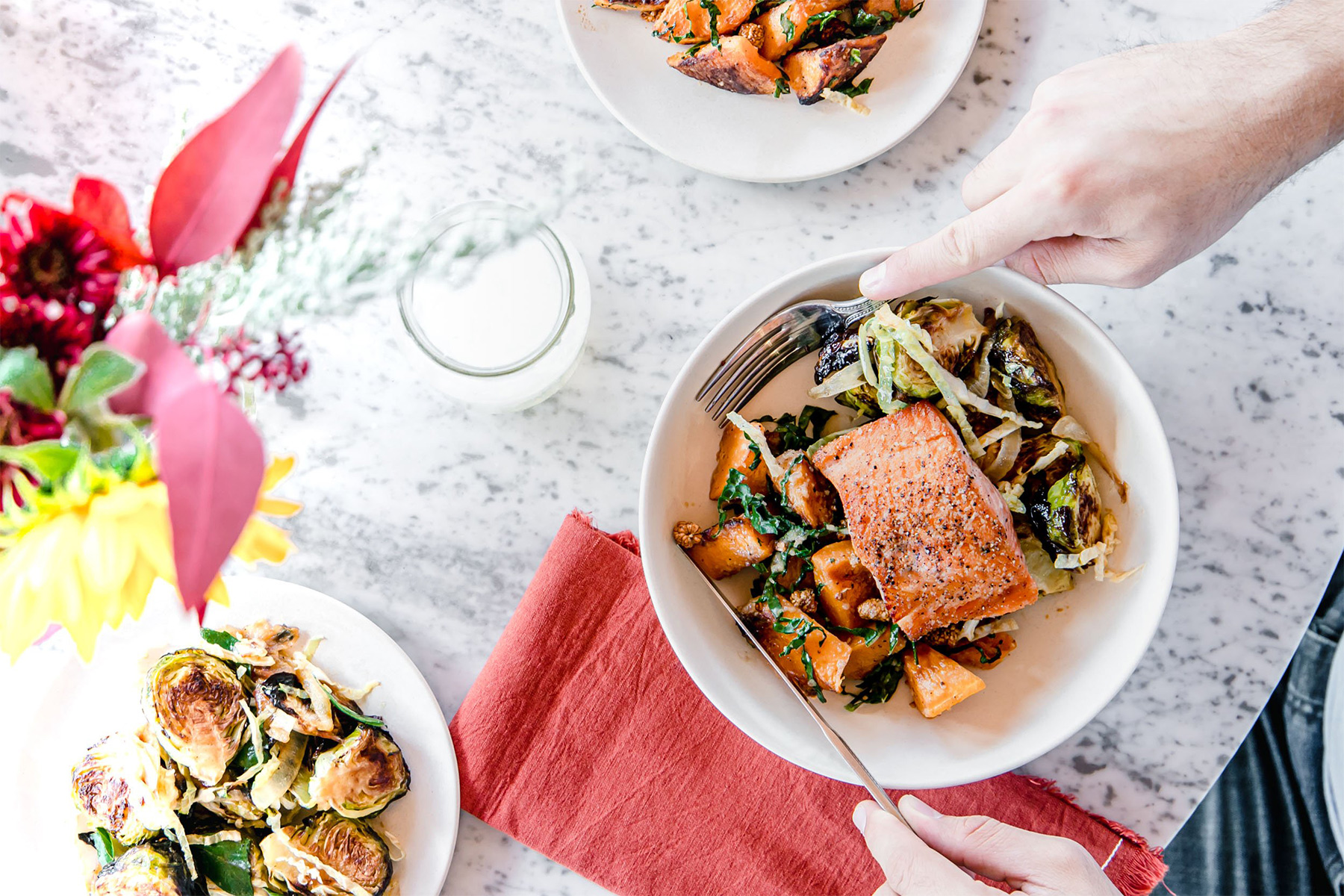 flower child salmon bowl