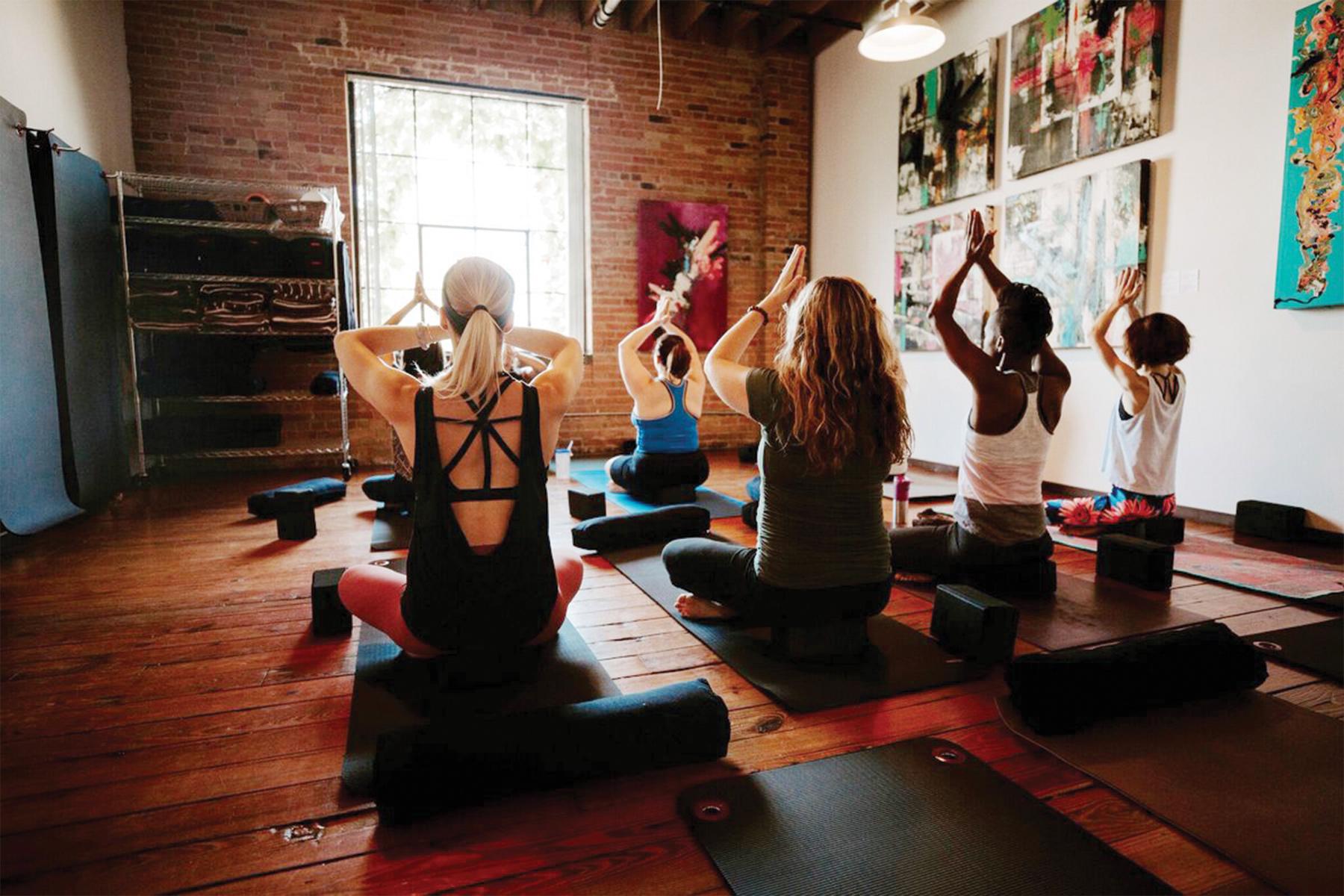 refuge yoga studio interior