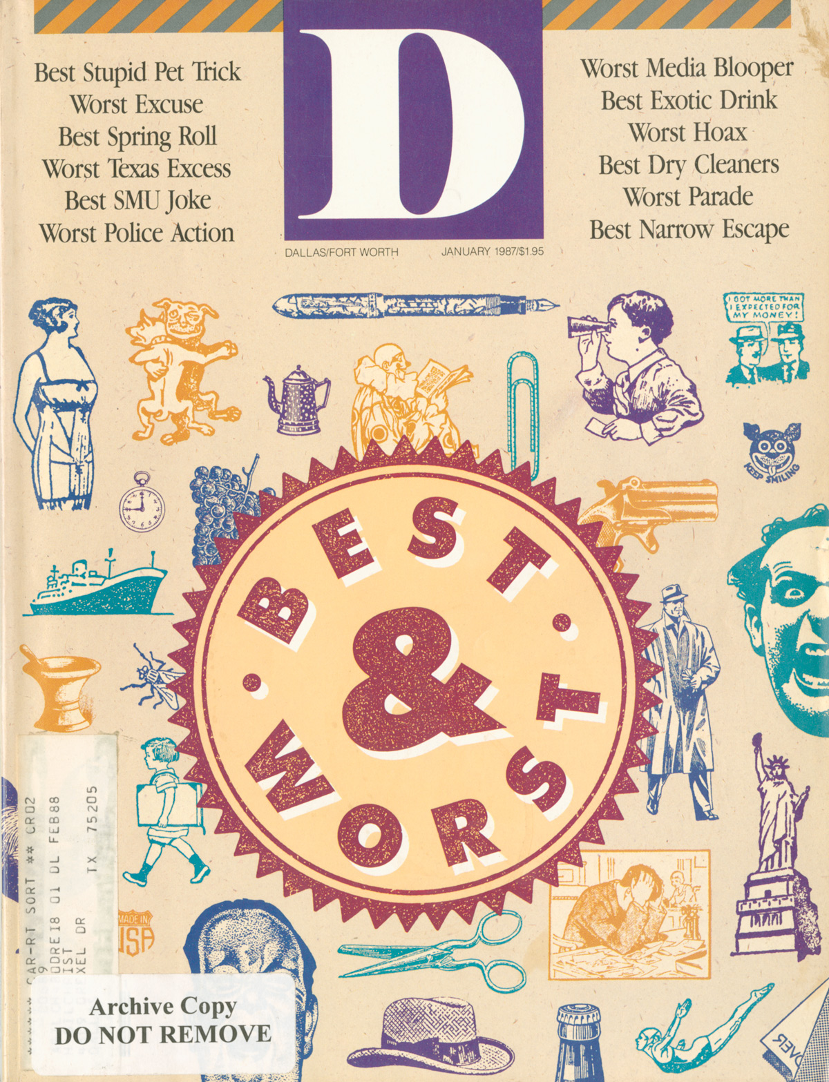 January 1987 cover