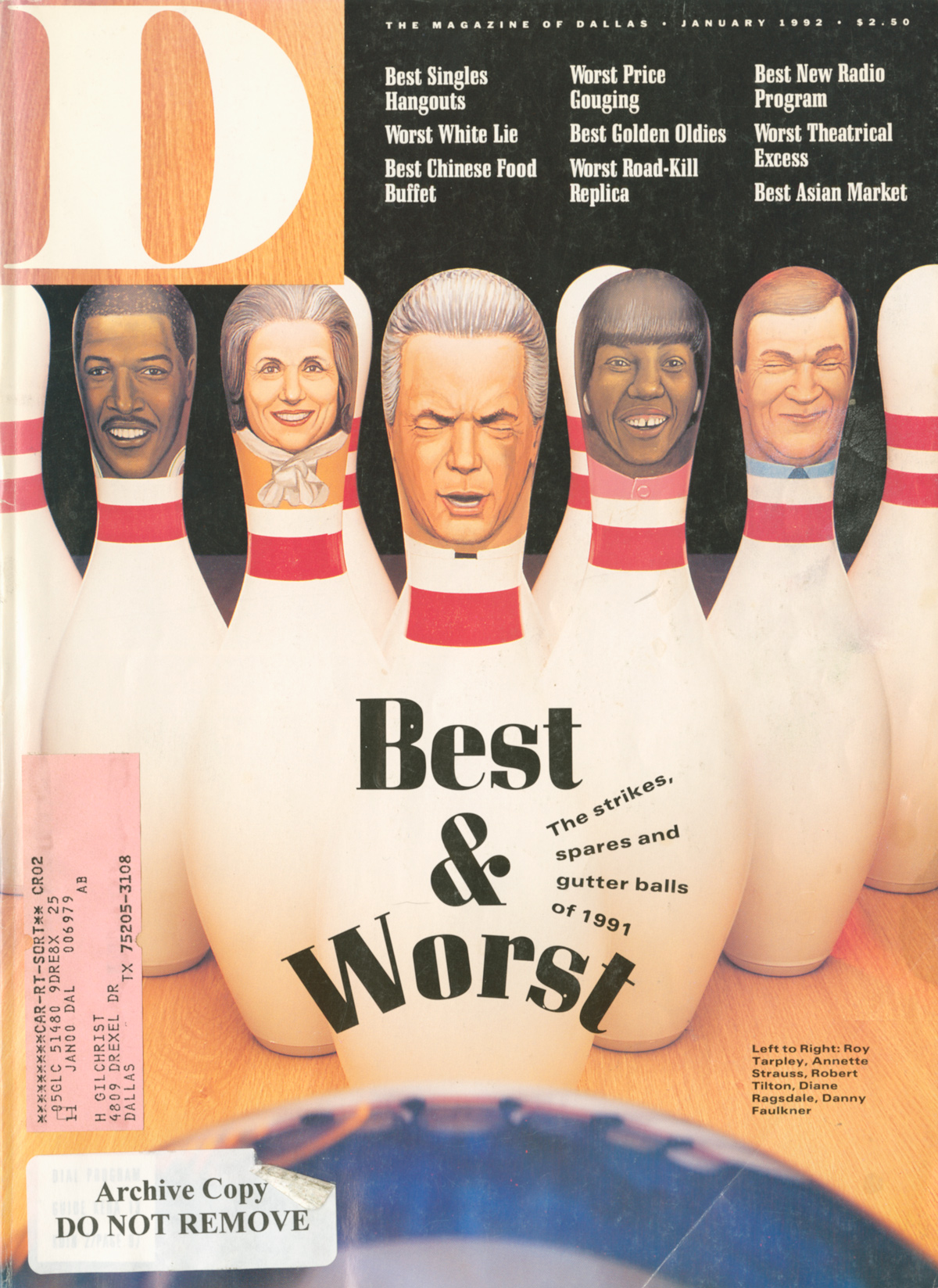 January 1992 cover
