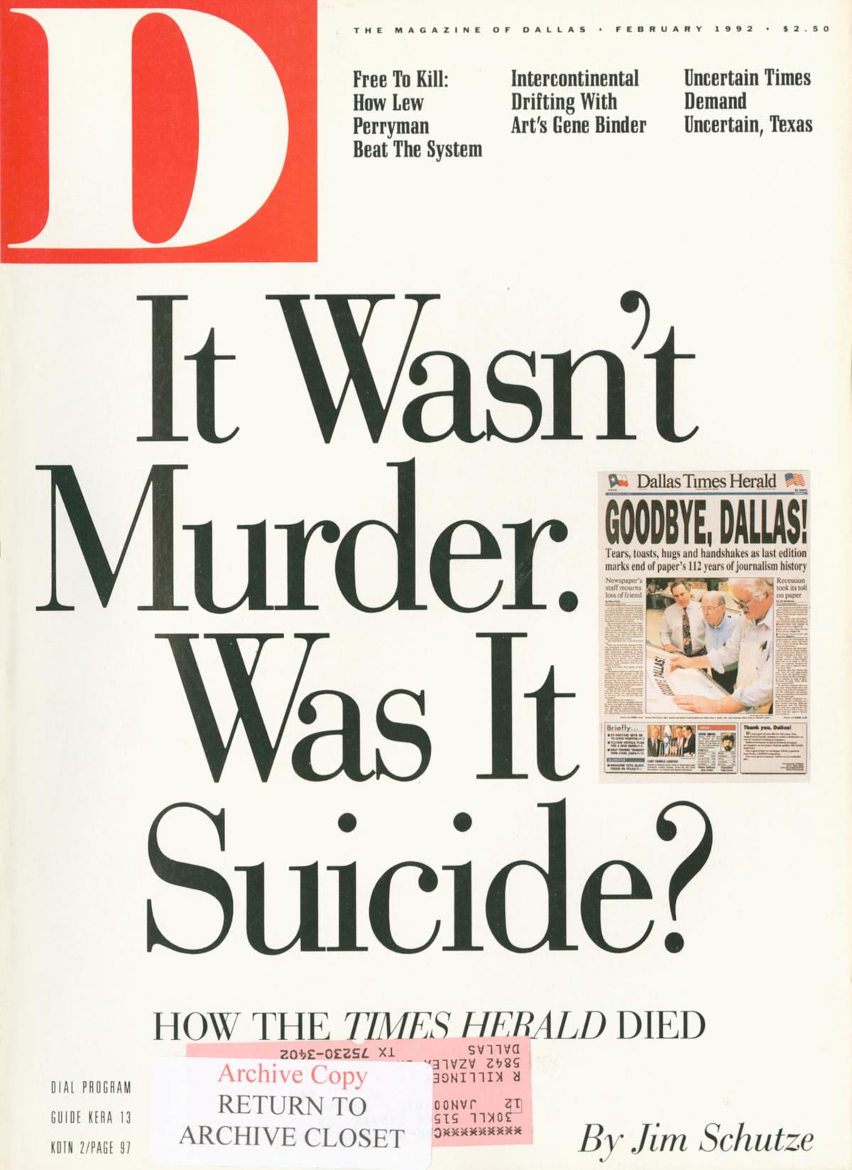 February 1992 cover