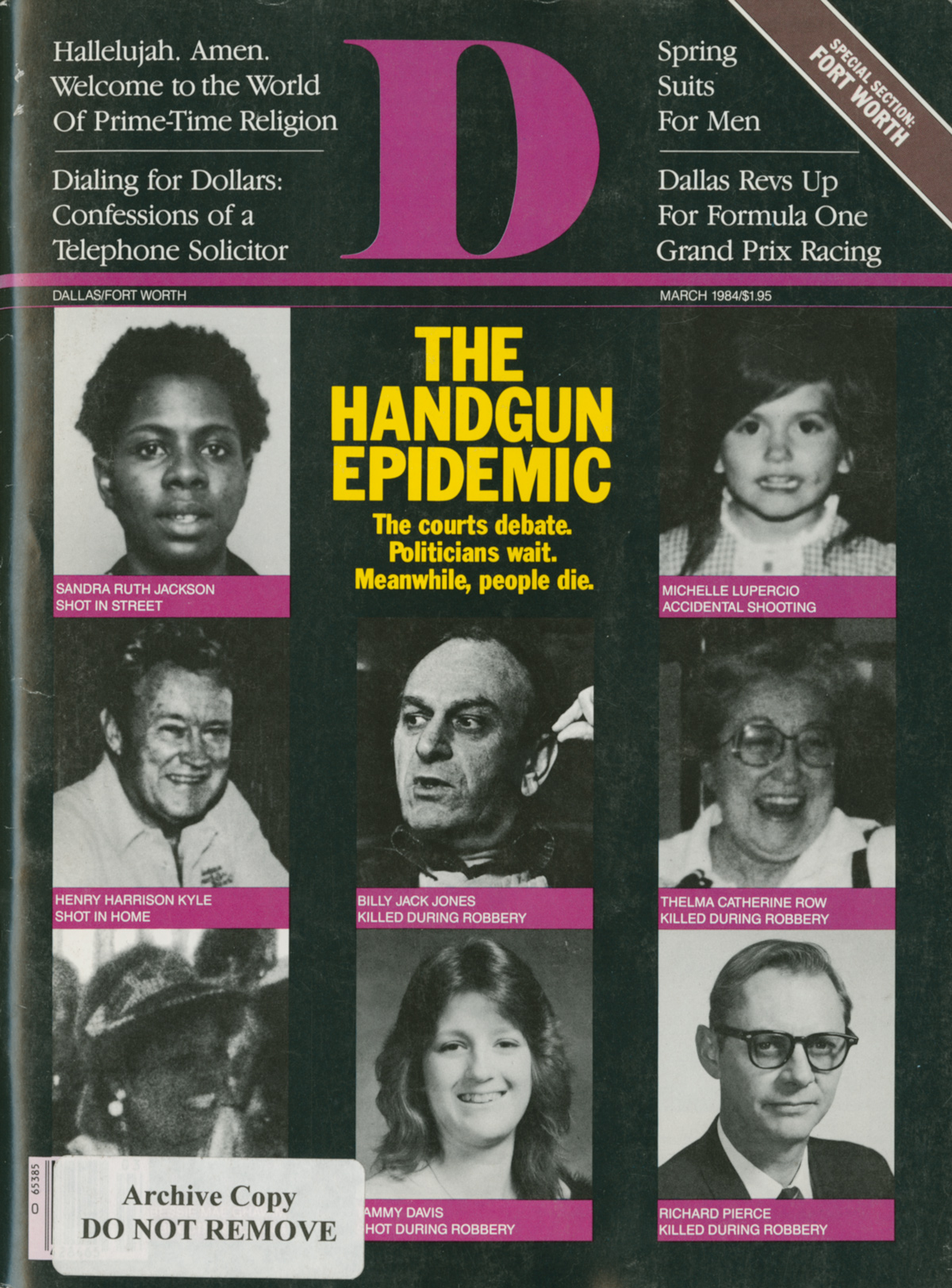 March 1984 cover