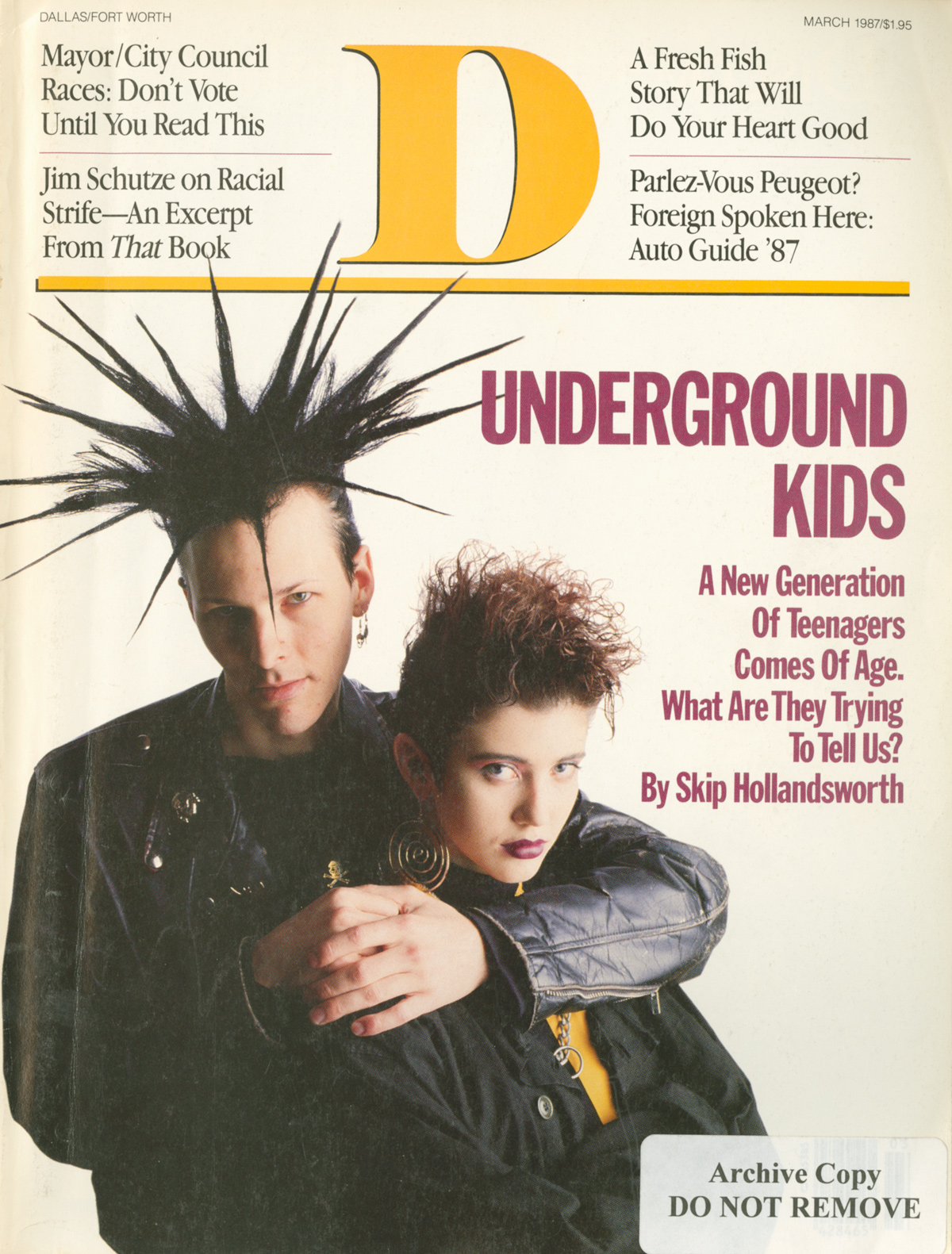 March 1987 cover