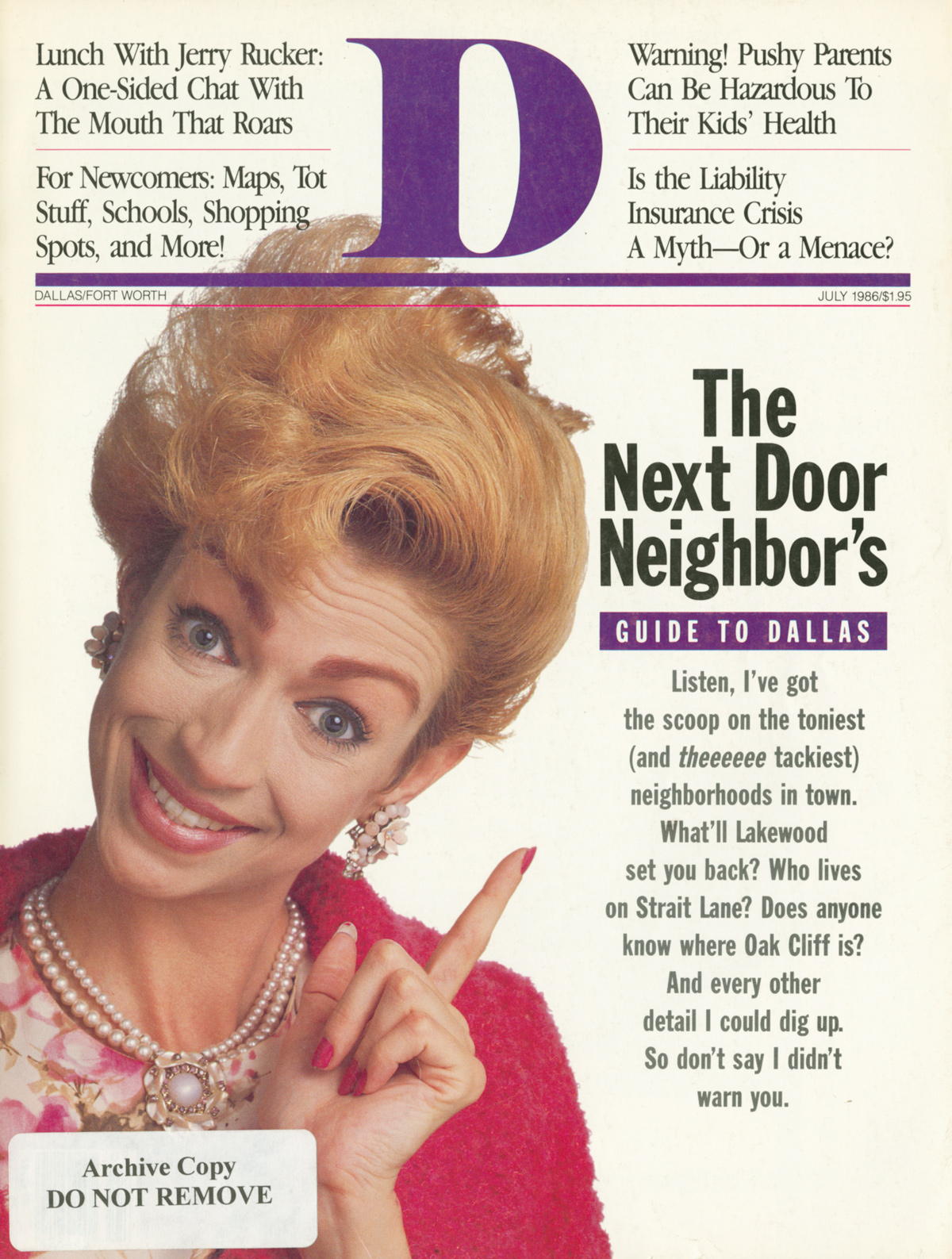 July 1986 cover