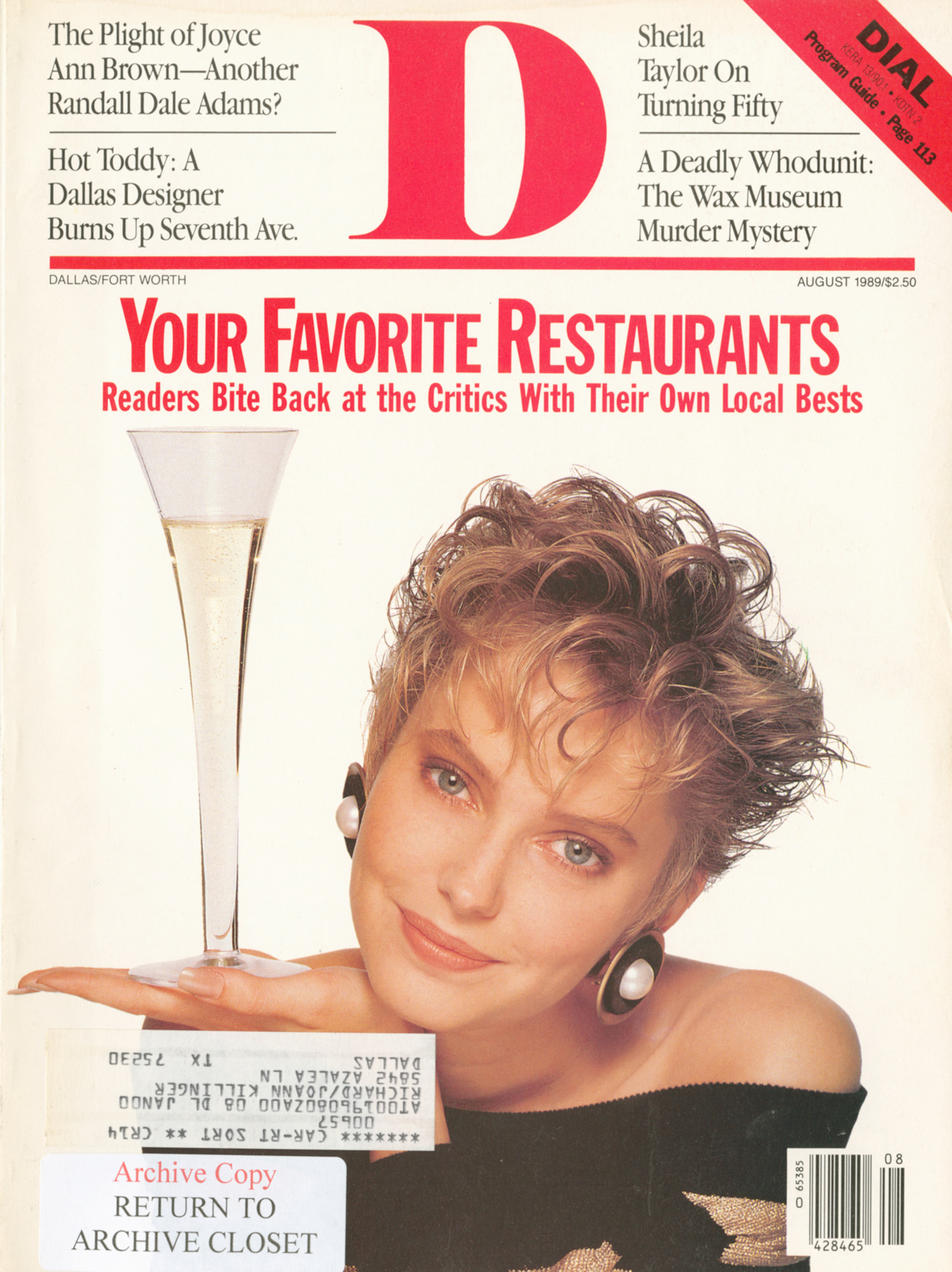 August 1989 cover