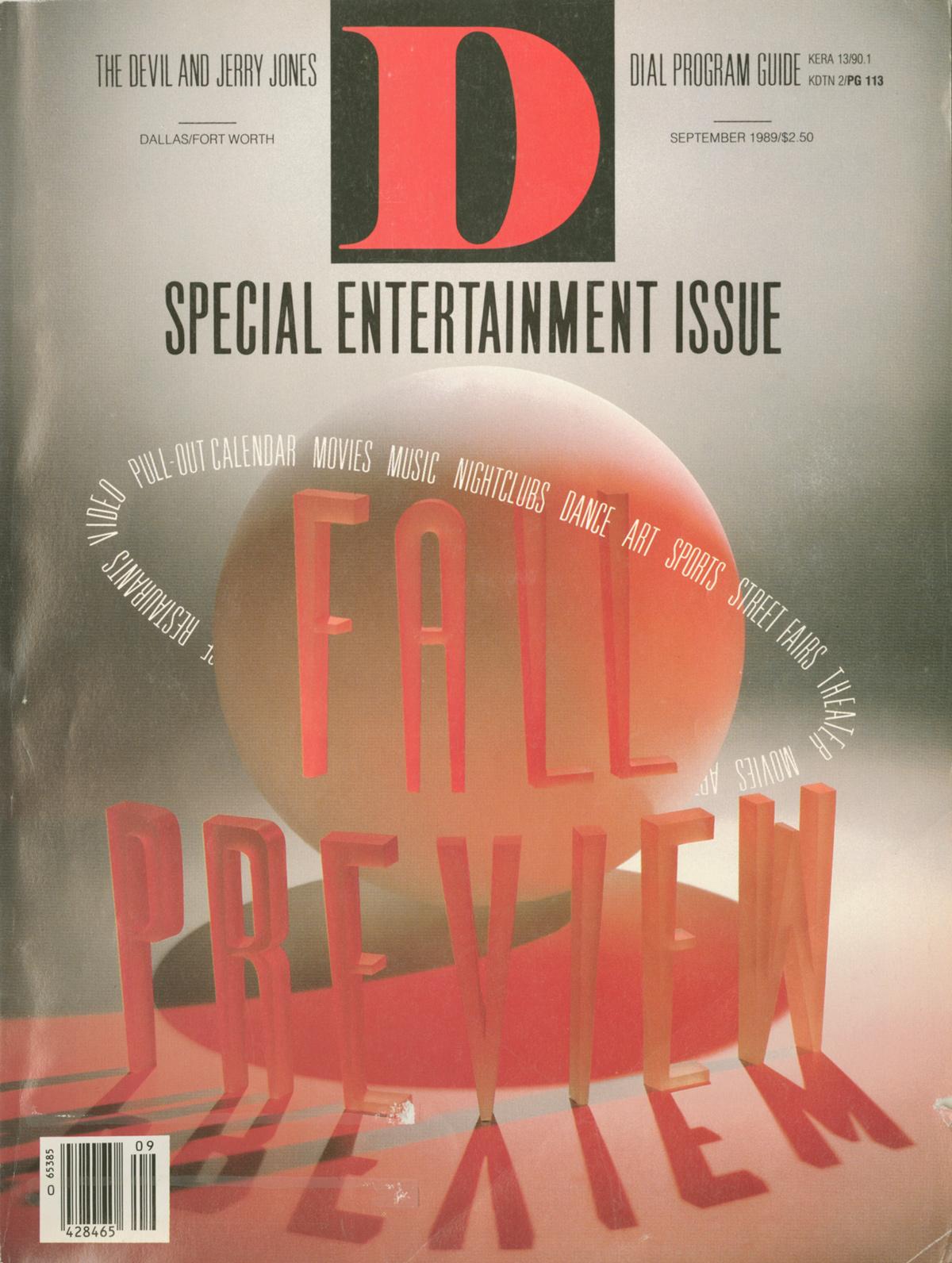 September 1989 cover