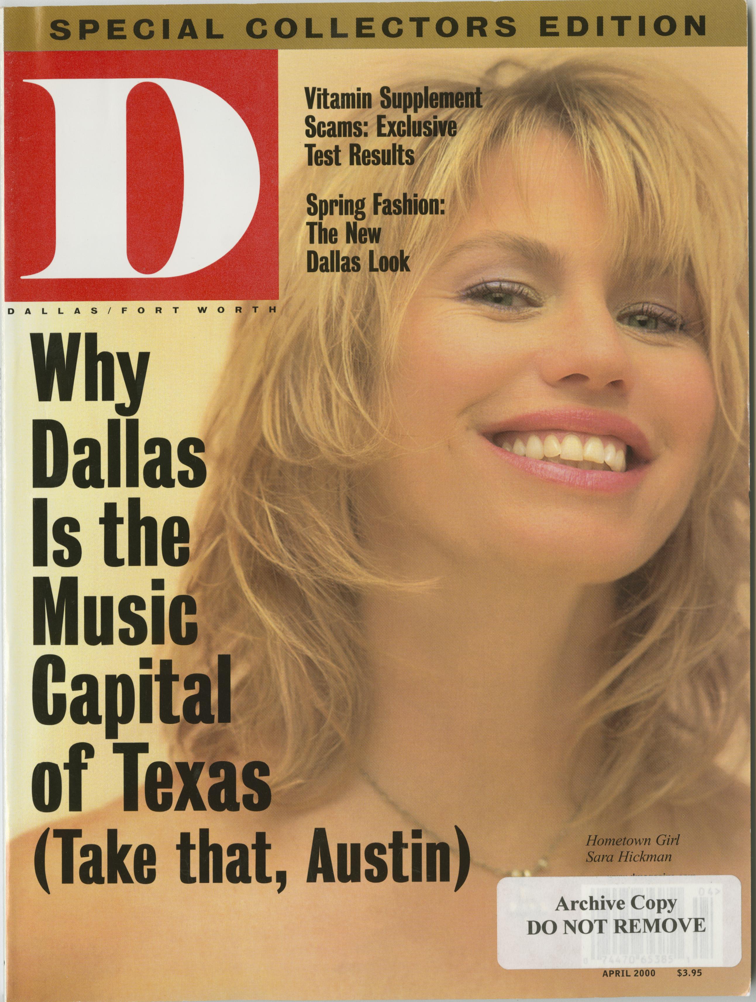April 2000 cover