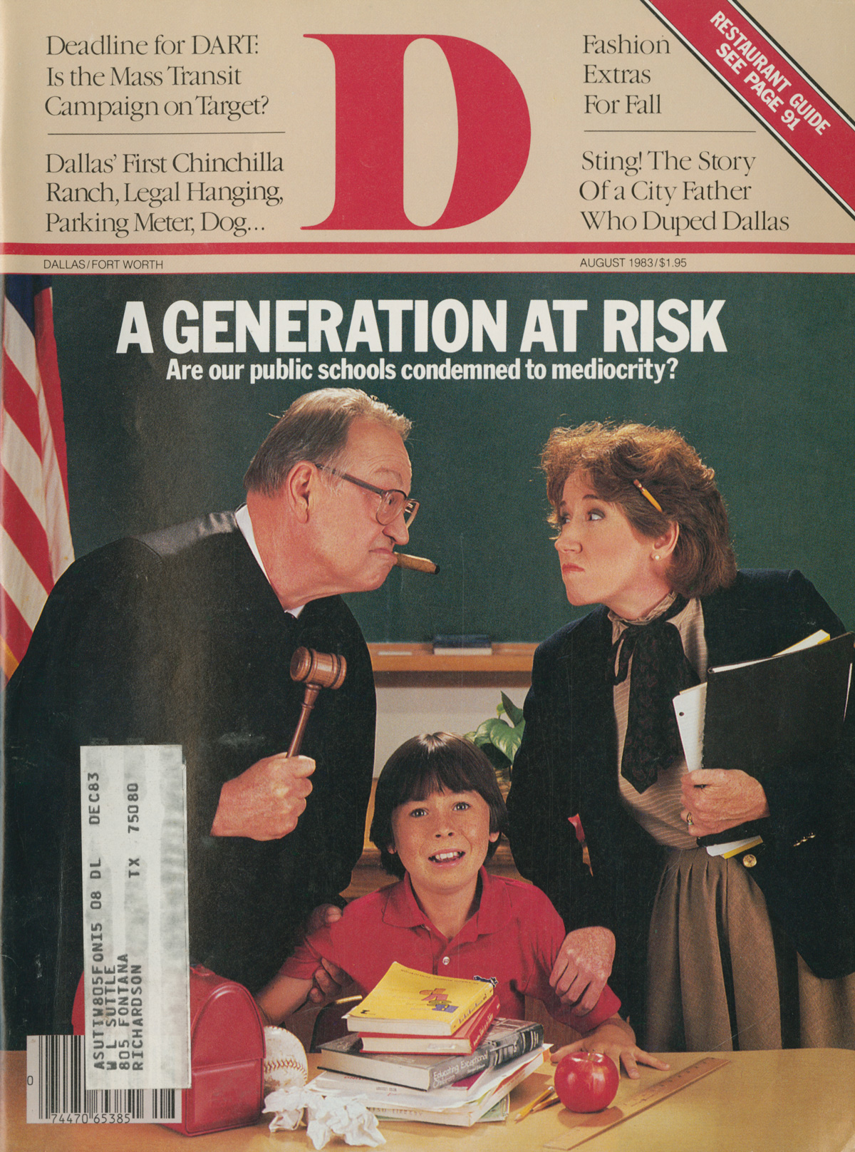 August 1983 cover