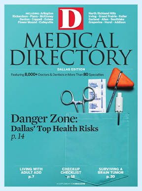 Special Report Dallas Medical Directory 2009 cover