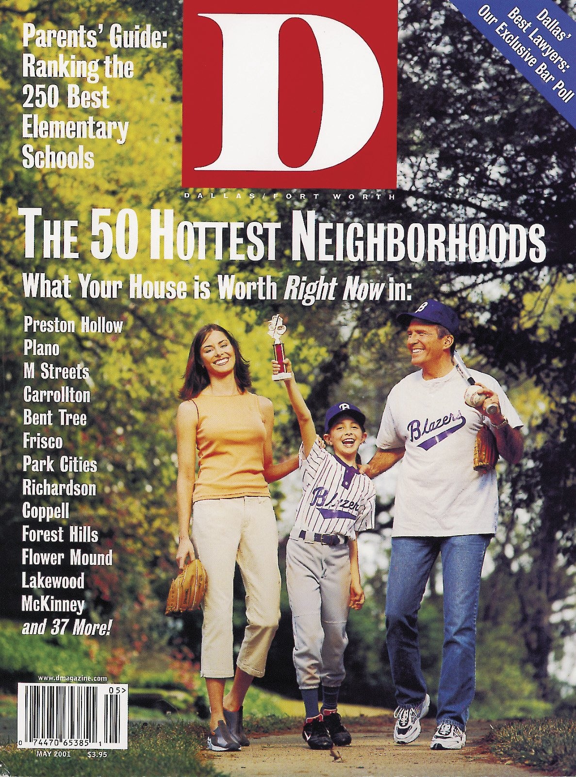 May 2001 cover