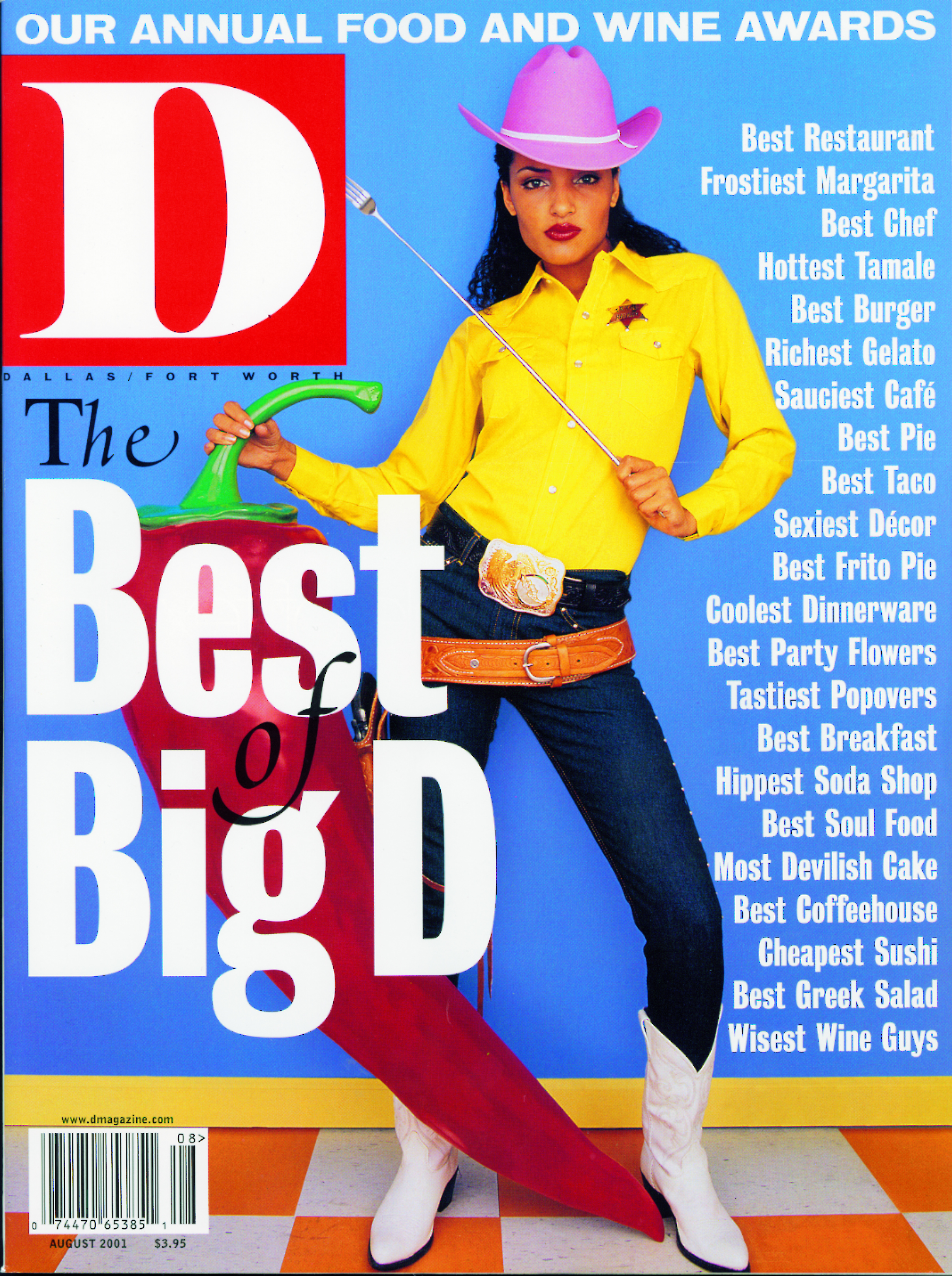 August 2001 cover