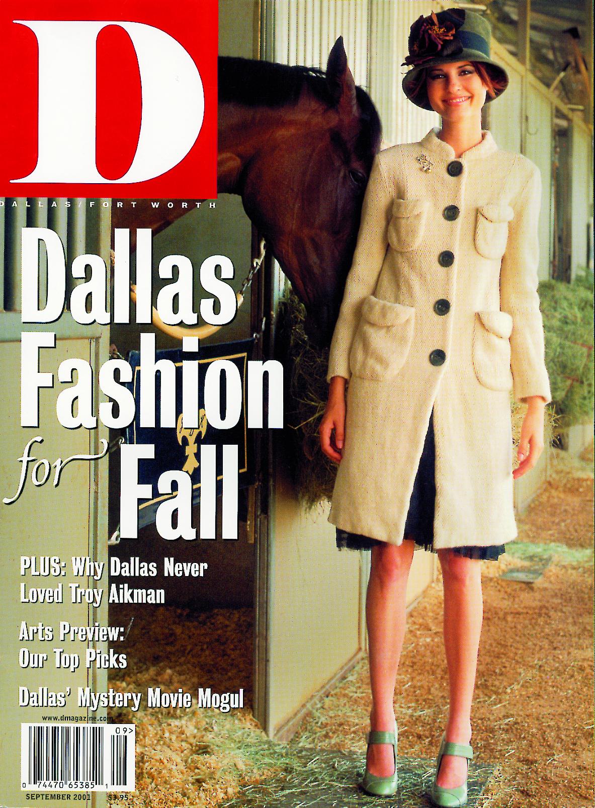 September 2001 cover