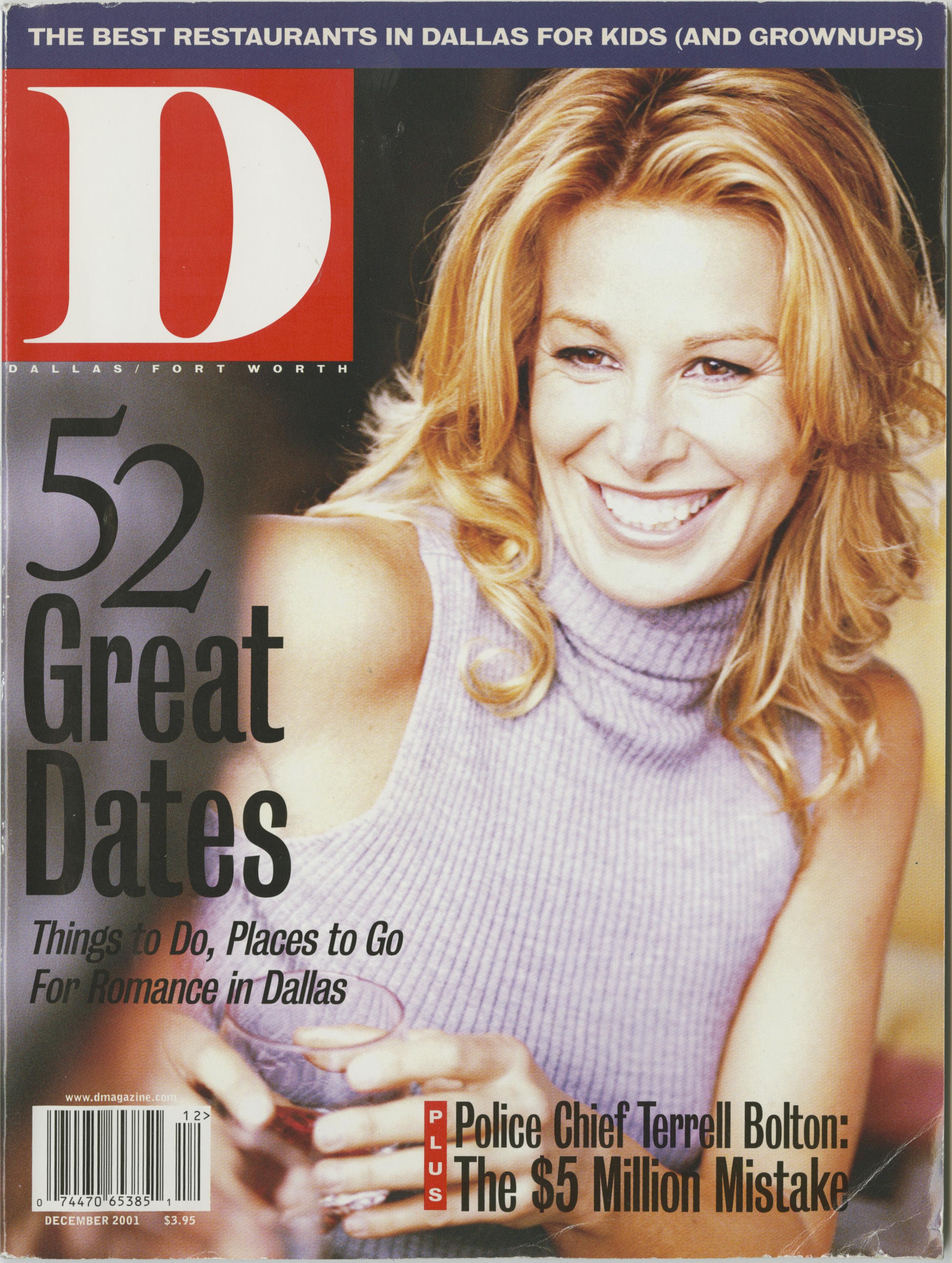 December 2001 cover