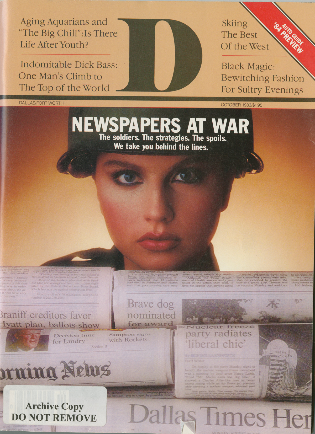 October 1983 cover