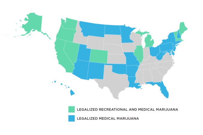 medicinal marijuana legalization map