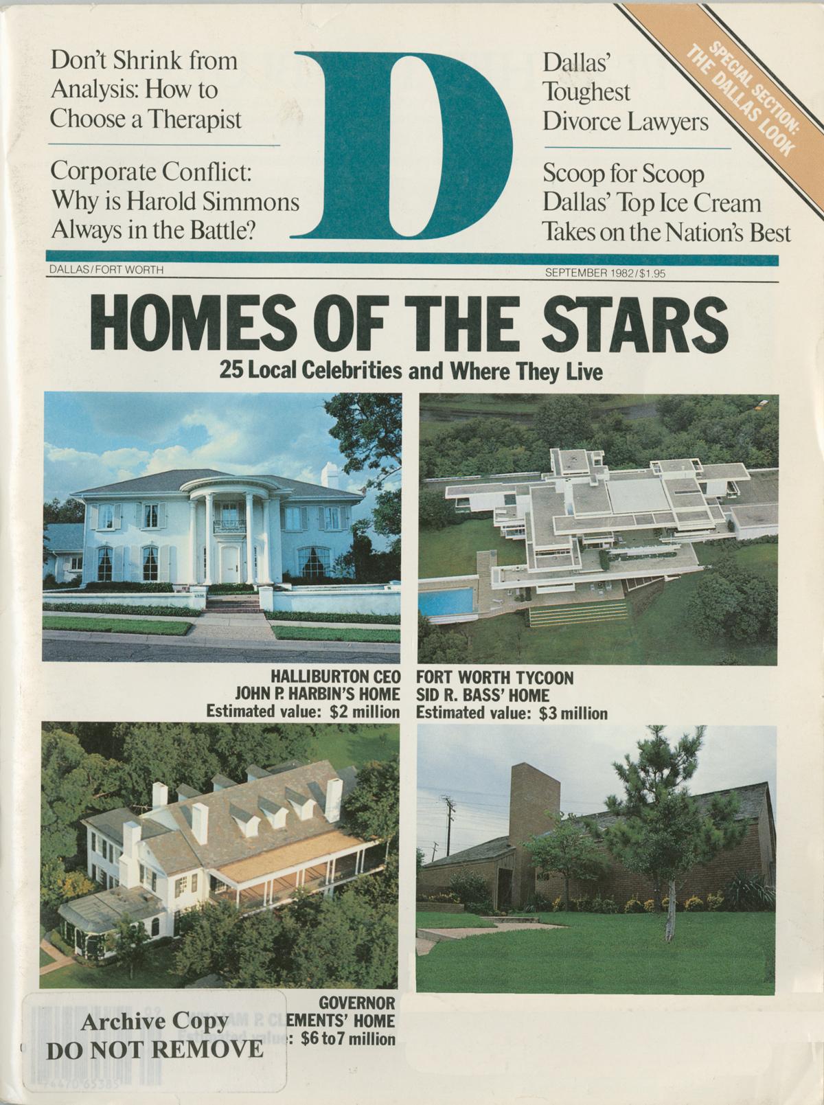September 1982 cover