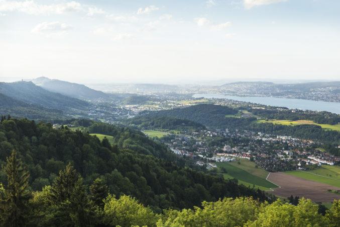 zurich switzerland aerial view