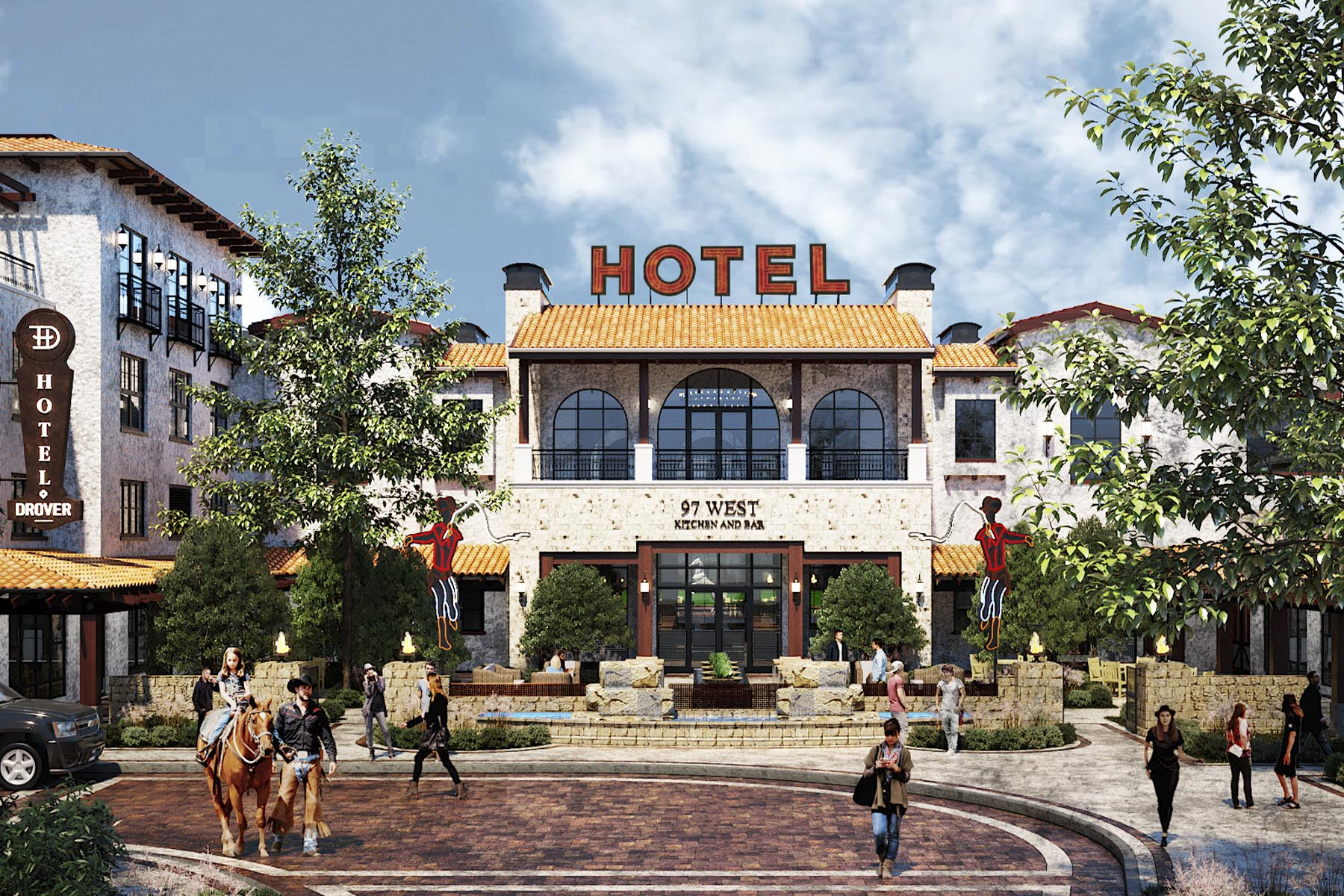 Hotel Drover Rendering