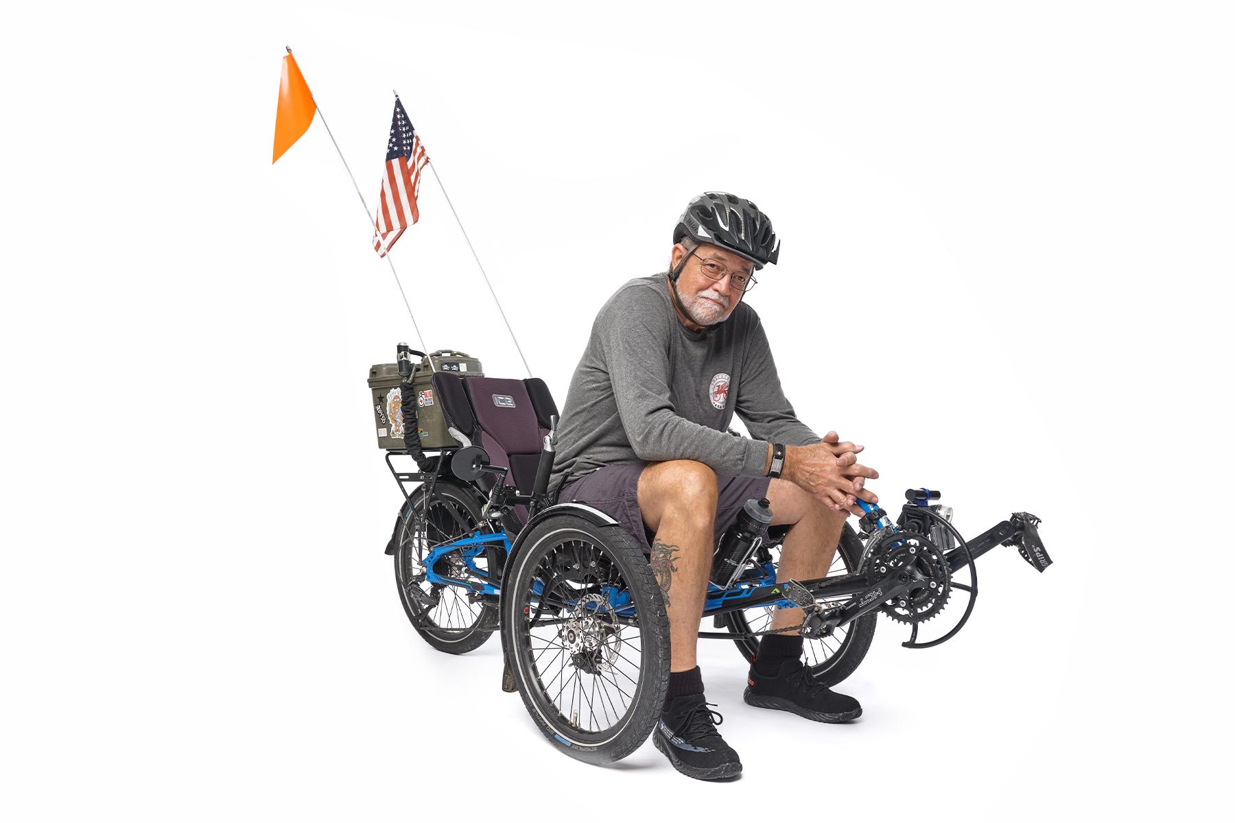 richard freeman dallas recumbent tricyclist