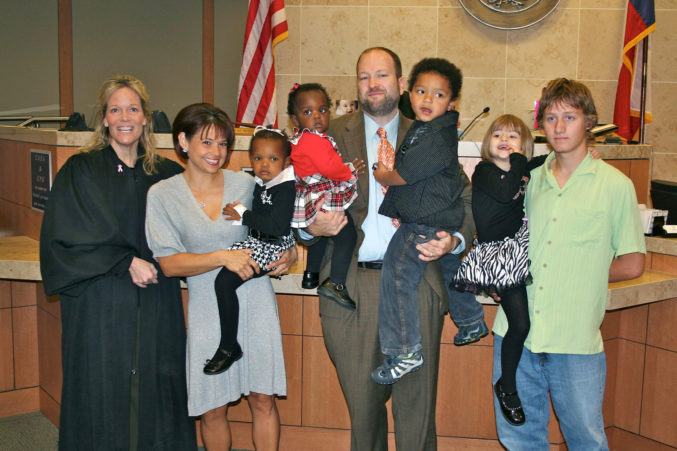 J David Joyce with 5 children