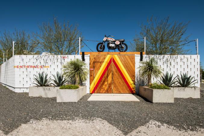 Entrance to Nick Badovinus restaurant Desert Racer