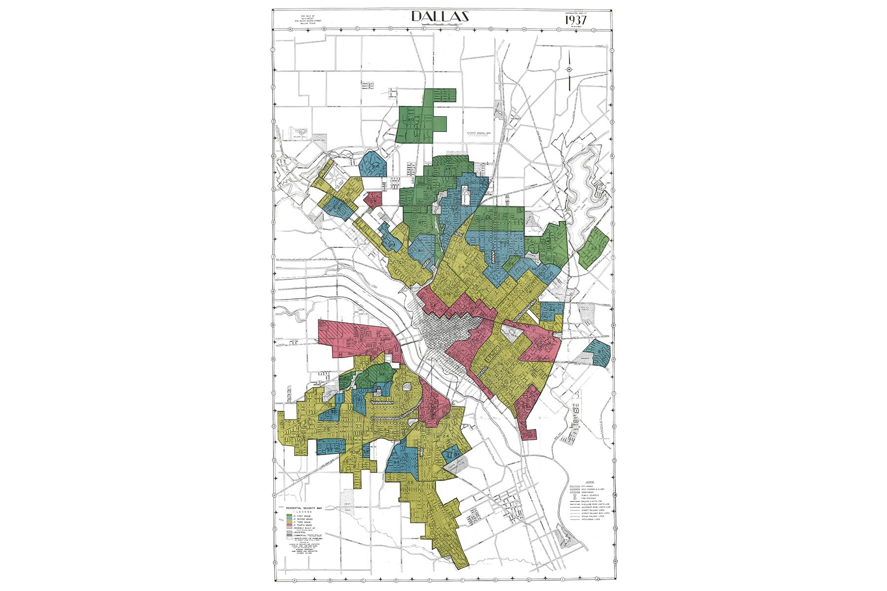 Map of Dallas 1937