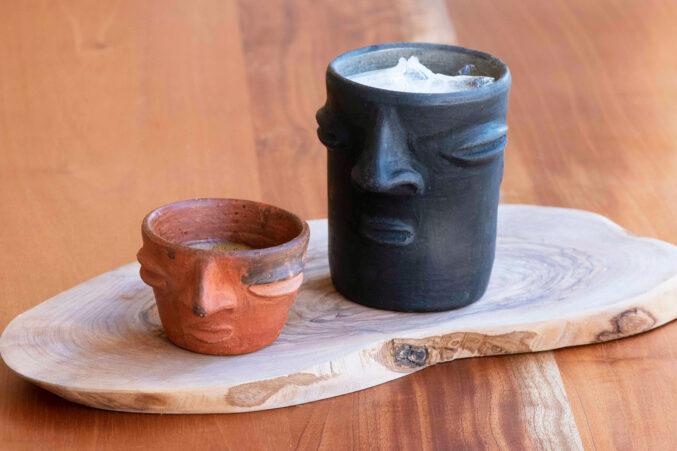 Xamán Cafe and Ayahuasca Cantina clay cantaritos