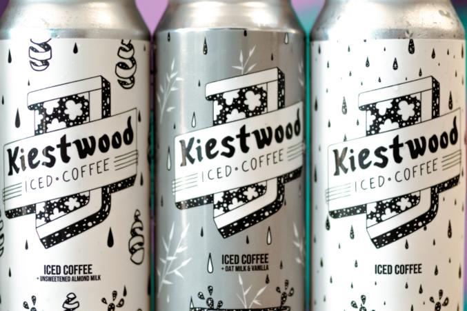 Three close-ups of Kiestwood Iced Coffee.