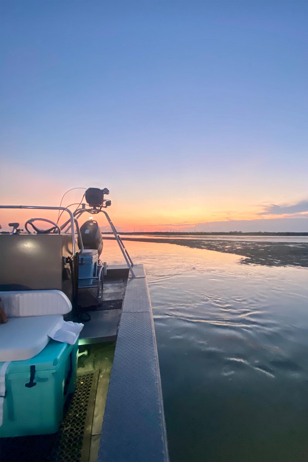 Port Aransas floundering boat